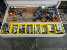 NAIL GUN - Nail Gun Storage with Different Size of nails.
