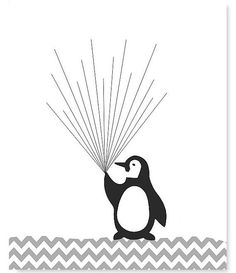 Find out about Fingerprint Child Bathe Various Visitor Guide Penguin with Balloons Thumbprint ...