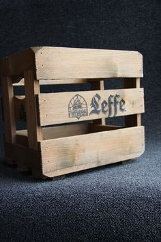 Old wooden Belgian Leffe beer crate by hipposdream on Etsy,