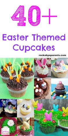 Have you been looking for some fun Easter themed cupcakes to serve for Easter dinner? Well, here are over 40 different Easter cupcake ideas for you to check out. With all of these options you're sure to find one that's right for you. Click through to check out these Easter cupcake recipes! Via Rock-A-Bye Parents #easter #easterrecipes #cupcakes