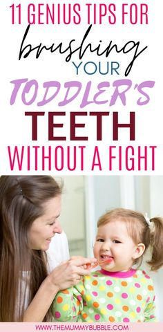 Does your toddler refuse to brush their teeth? Try these genius ideas for convincing your toddler to open wide and let you brush those teeth! Top tips for getting even a stubborn toddler to let you brush twice a day Toddler Learning Activities, Parenting Toddlers, Toddler Preschool, Creative Activities, Toddler Teeth Brushing, Tooth Brushing, Gentle Parenting, Parenting Advice, Toddler Development