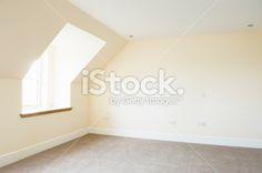 Brand new empty bedroom Royalty Free Stock Photo
