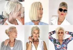 A 56-Year-Old Model's Hair Routine Hair Styles For Women Over 50, Hair Color For Women, Short Hair Styles Easy, Medium Hair Styles, Bob Hairstyles With Bangs, Pretty Hairstyles, Straight Hairstyles, Blonde Hair Going Grey, Natural White Hair