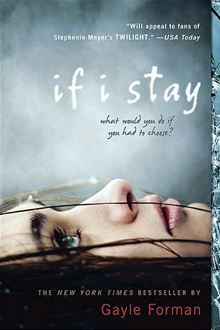 If I Stay by Gayle Forman. Mia was in a terrible accident and must piece her life back together bit by bit after the accident, which she has no memory of. Importance to class: speaks to the purpose of life and important priorities in life. Important to me: talks about the fragility and shortness of life; personal connection of a friend in a similar circumstance in high school.