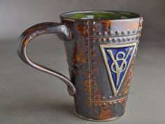 Sheet Metal Mug Ready To Ship V8 Rust Sheet Metal Stoneware