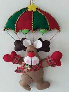 Christmas Time, Christmas Crafts, Christmas Decorations, Christmas Ornaments, Holiday Decor, Felt Fabric, Fabric Art, Felt Crafts, Diy Crafts