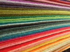 15 wool felt sheets for $13.50 {pick own colors}
