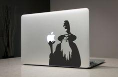 Gandalf Herr der Ringe - Macbook Aufkleber Sticker Laptop Vinyl Aufkleber Sticker Apple Mac Pro Air handgemachte Geschenke