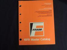 1979 Fram Master Catalog Oil Air Gasoline Fuel Coolant Filters Wiper Blades  #Fram