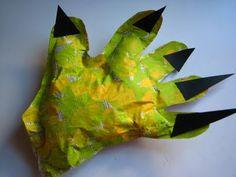 Monster hands! Kid-made Halloween decorations (on scrumdilly-do!)