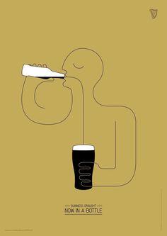 Clio Awards i vincitori della creatività Guinness-Draught-Bottle Creative Advertising, Advertising Poster, Advertising Agency, Advertising Ideas, Graphic Design Posters, Graphic Design Inspiration, Gravure Illustration, Guinness Draught, Call For Entry