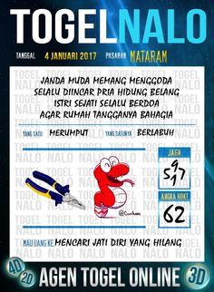 Rumus Hoki 2D Togel Wap Online Live Draw 4D TogelNalo Mataram 4 Januari 2017