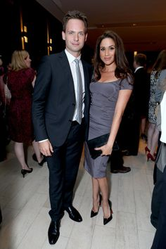 Actors Patrick J. Adams (L) and Meghan Markle attend the FINCA Canada Fundraiser At TIFF 2012 during the Toronto International Film Festival on September 11, 2012 in Toronto, Canada.