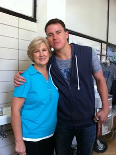 Channing Tatum with his mom on the set of 21 Jumpstreet. So sweet.