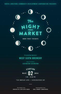 Mary Galloway (Brooklyn) Night Market Poster Series, 2014