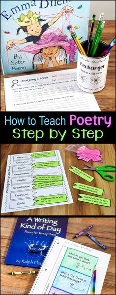 How to Teach Poetry Step by Step outlines an entire poetry unit for upper elementary students from beginning to end. This webinar recording is included in Laura Candler's Poetry Unit Bundle. Teaching Poetry is easy when you have the right tools! Teaching Poetry, Teaching Writing, Teaching Resources, Writing Resources, Writing Ideas, Teaching Ideas, Writing Rubrics, Paragraph Writing, Opinion Writing