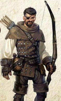 Fighter Archer Mercenary - Pathfinder PFRPG DND D&D d20 fantasy
