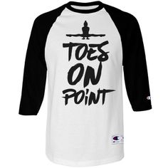 Gymnast Shirt On Point | Point those toes gymnast! You've probably heard this one too many times. You must be a gymnastics pro. Get a funny raglan tee to show off that your toes are on point. Wear this cute shirt to practice and let your coach know that your toes are on POINT! Always. #dance #dancer #ballet