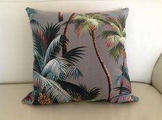 Hawaiian Cushions Covers Tropical Palms Hand by IslandHomeEmporium, $48.00