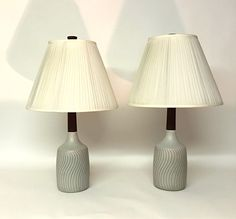 Pair of Gordon and Jane Martz Pottery Lamps: click to enlarge