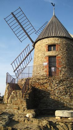 Windmill - Collioure, France