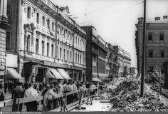 Тверская улица при реконструкции в 1939