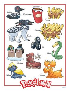 Happy Canada day, here are some of our Pokehmon in celebration of our birthday XD Pokemon Memes, New Pokemon, Pokemon Rpg, Pokemon Stuff, Funny Images, Funny Photos, Canadian Culture, Canadian Art, Alien Drawings