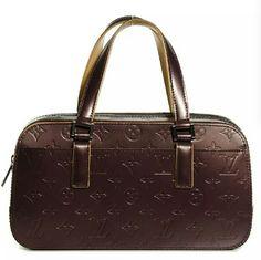 Louis Vuitton Noir Mgrm Vernis Mat Shelton Satchel
