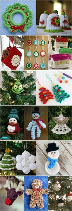 30 Easy Crochet Christmas Ornaments To Decorate Your Tree,Crochet is such a popular craft, particularly for the holidays. I remember when I was younger going to craft fairs around Christmas and there would al. Crochet Christmas Decorations, Christmas Crochet Patterns, Crochet Christmas Ornaments, Easy Ornaments, Crochet Snowflakes, Crochet Gifts, Easy Crochet, Simply Crochet, Crochet Ideas
