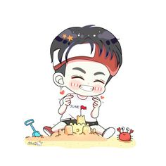 #iKON #Junhoe March Born, June, Hanbin, Ikon Junhoe, Ikon Kpop, Ikon Wallpaper, My Bebe, Chibi, Fanart