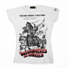 Werewolves On Wheels - Women ••• 15.00€ ✠ #LeviathanCo #tshirt #design #psychobilly #creative #create #clothes #vintage #diseño #lifestyle #rockNroll #pinup #rockabilly #hotrod #tattoos #motocicletas #bikers #camiseta #rider