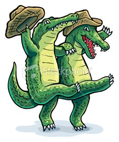 Cartoon Of Bayou Illustrations, Royalty-Free Vector Graphics & Clip Art Crocodile Illustration, Illustration Art, Free Vector Art, Animal Sketches, Animal Drawings, Alligator Crafts, Gator Logo, Inkscape Tutorials, Crocodiles