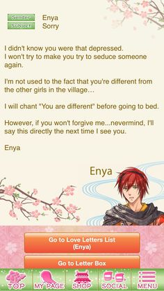 Shall We Date Destiny Ninja  Enya  Main Story  Love Letter