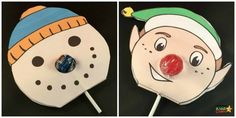 Your lollipops or Chupachups can be any size to do this craft - just adjust the template and away you go!