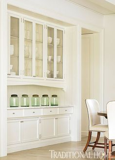 idea for built-ins to look like hutch - would place on wall near island