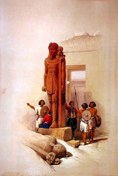 1838.......WA DI  ES - SEBUA.....NUBIA.......PAINTING BY DAVID ROBERTS...........PARTAGE OF PHOTOS & EGYPTOLOGY............ON FACEBOOK..........