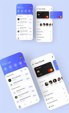 Creative Mobile Banking App Web Design, App Ui Design, Mobile App Design, Instagram Mobile, App Design Inspiration, Mobile App Ui, Ui Web, Dashboard Interface, Just Dream