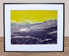 Laura Long creates prints inspired by long walks in wilderness, exploring hard climbs that often stray from marked paths.  See more in the Open Houses Trail, 28th to 30th May 2016