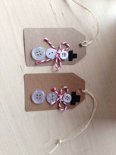 My Christmas tags, snowmen- how cute!!!!