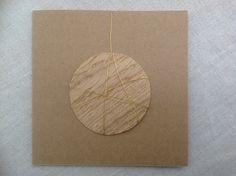 MISU card design | oak bauble Japanese Paper, Silk Screen Printing, Bauble, Woodblock Print, Wool Felt, Watercolor Art, Pure Products, Prints, Cards