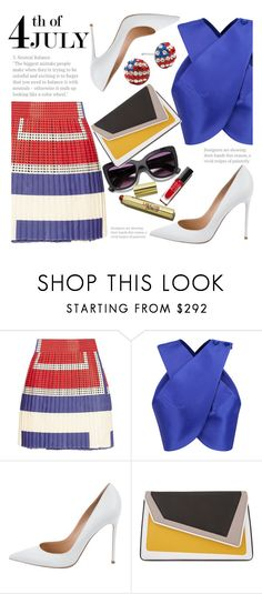 4th Of July by fattie-zara on Polyvore featuring mode, Carven, SUNO New York, Gianvito Rossi and âme moi