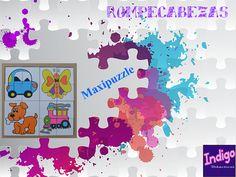 Maxipuzzle #Rompecabeza #Animalitos 4 en 1. #Indigo #Didácticos.