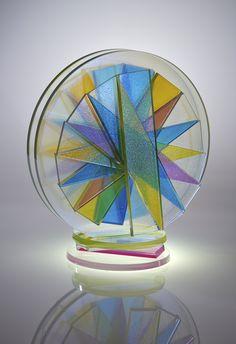 SIDNEY HUTTER   Glass Sculpture by Sidney Hutter at Schantz Galleries