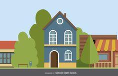 Dos pisos dibujo de la casa