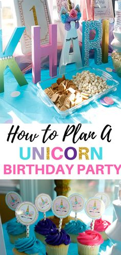 Having a unicorn party? Need some unicorn first birthday party ideas? Check out these unicorn party decorations. Unicorn Party Ideas #birthday, #partydecorations, #partydecor