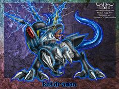 Digimon: Raidramon by Juctoo.deviantart.com on @deviantART