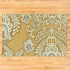 I just bought this outdoor mat for my deck.  Outside has never looked so inviting and at only $40 how can you go wrong.