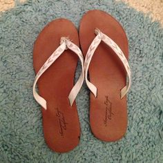 0acc9bb525ab2 ☀️Tribal leather flip flops☀ Worn only a couple times. The left flops