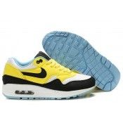 nike donna air max 1 trainers gialle bianche nere sale cheap online