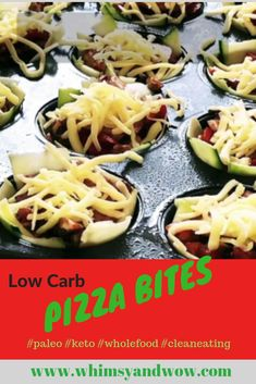 Low Carb, Clean Eating, Keto Friendly Pizza Bites are delicious and a perfect treat or appetizer